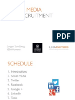Maximising LINKEDIN & Social Media for Your Brand JORGEN SUNDBERG