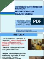 ENTREVISTA, RELACIÓN MÉDICO PACIENTE