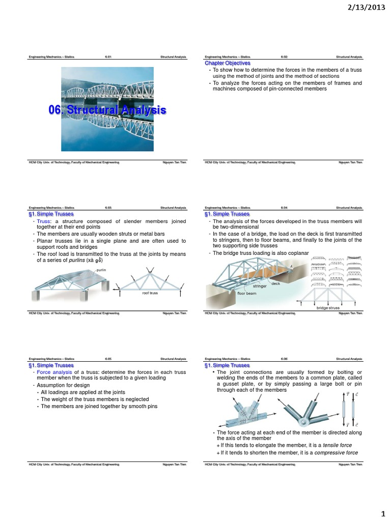 Ch.06 Structural Analysis   Truss   Structural Analysis