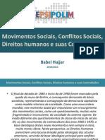 Movimentos Sociais, Conflitos Sociais, Direitos Humanos