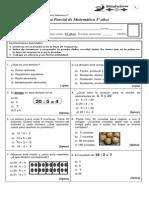 prueba de matematica Nº4 (divisiones, geometría)