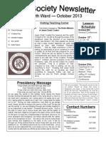 RS Newsletter October 2013
