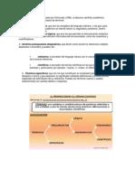 clasificación de Terminos propuesta por Klimovsky