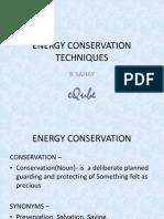 Energy Conservation Techniques - Copy