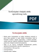 Teritorijalni i Linijski Oblik Operativnog Rada