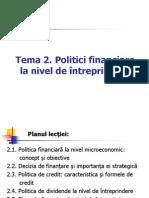 Politici financiare