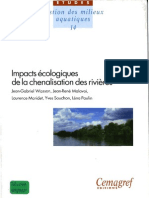 Impacts écologiques de la chenalisation des rivières