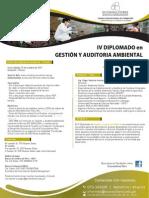 IV Diplomado Gestion y Auditoria Ambiental Virtual a Distancia Octubre 2013