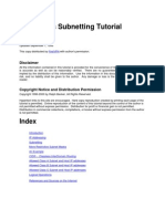 IP Address Subnetting Tutorial