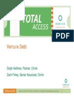Venture Debt Presentation 022609