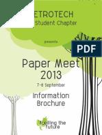 Information Brochure-Petrotech Paper Meet 2013