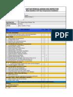 Daftar Periksa Harian HSE Maret 2013