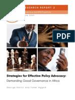 Demanding Good Governance in Africa