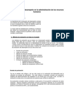 Evaluacion de desempeño en la Adm. RRHH