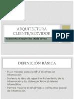 Arquitectura .Cliente Servidor