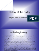 History of Guitars