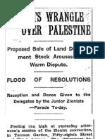 Zionists Wrangle Over Palestine