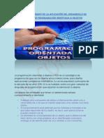 INFORME ELABORADO DE LA APLICACIÓN DEL DESARROLLO DE SOFTWARE EN PROGRAMACION ORIENTADA A OBJETOS