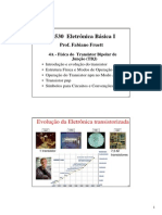 Aula 4A Fisica Dos Transistores Bipolares