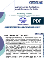 WTO's  Agreement on Agriculture Issues and Concerns for India
