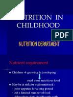 K.25 Nutrition in Childhood