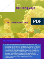Terapia de Lenguaje. Ps. Jaime Botello Valle
