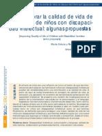 Como mejorar la calidad de vida de las familias de niños con discapacidad intelectual