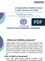 Non Agriculture Market Access Issues and Concerns for India