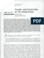 gender and ownership in uk small firms