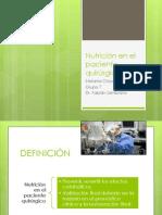 Nutrición en el paciente quirúrgico