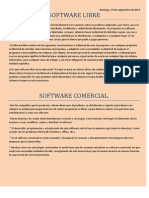Software Libre y Comercial