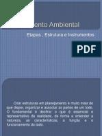 Etapas , Estrutura e Instrumentosdo Planejamento Ambiental
