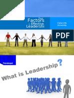 4 Factors of Leadership
