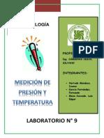 Medición de presion y temperatura