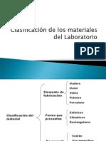 Clasificacin de Los Materiales Del Laboratorio