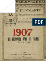 Caragiale - 1907 din primăvară pănă 'n toamnă - cîteva note