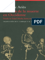 ARIES Philippe. Historia de La Muerte en Occidente