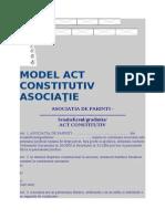 MODEL ACT CONSTITUTIV ASOCIAŢIE