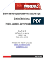 Anúncio Vagas estagio técnica