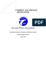 Pilot Authority and Aircraft Protection