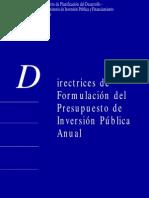 Directrices Form Presupuestaria Final