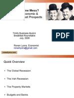 Ronan Lyons Trinity Business Alumni Roundtable - Irish Economy and Property Market