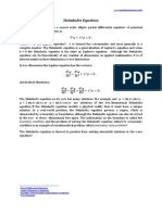 Helmholtz Equation