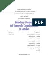 Informe Métodos y Técnicas del Desarrollo Organizacional. El Cambio