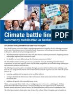 Climate battle line