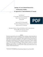 The Epistemology of Cross-National Research in Technoscience Studies