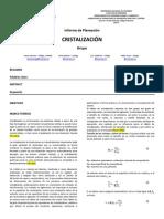Preinforme Cristalizacion