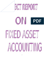Fixed Asset Accounting Project Report