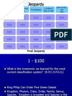 Classification Jeopardy Review