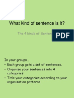 Kinds of Sentences - Assertive, Imperative, Interrogative
